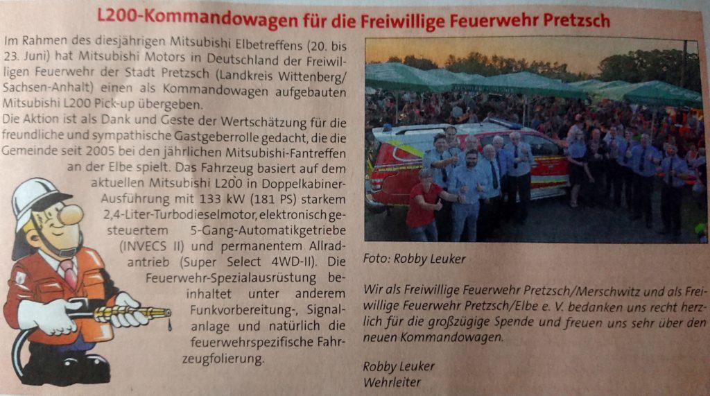 Bad Schmiedeberg - Feuerwehr Pretzsch